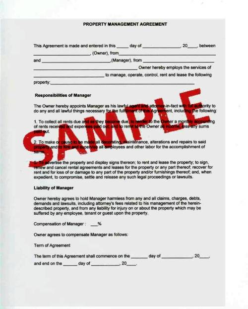 snow removal contracts sample